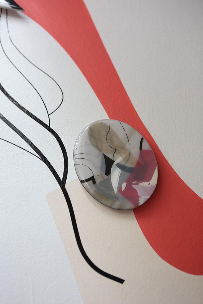 Detail of artwork in resin