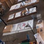Working on resin artwork