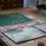Working on artwork in resin