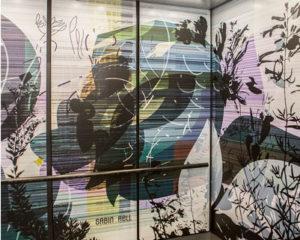Art in Elevator